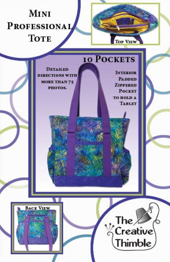 ca0ccb04b45a Mini Professional Tote Bag Pattern - The Creative Thimble