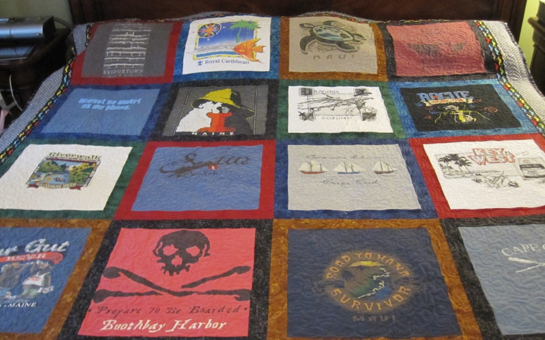 Mike's T Shirt Quilt DONE! Honey Harvested!